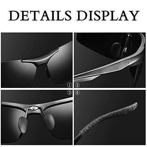 046e17d53b9 Sports Polarized Sunglasses for Men - wearPro Driving Sunglasses Al-Mg  Metal Frame WP1005 (