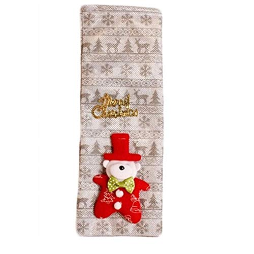 Fdc Bear - FANRENYOU Christmas Decor for Home Xmas Wine Bottle Bag Cover Santa Claus Deer Bottle Clothes Silver Bear