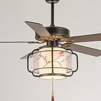 Vintage chino lámpara ventilador, ventilador de techo, salón ...