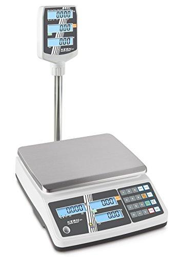 Carga Báscula con escaneado Autorización y memoria puestos para artículo Precios [Kern RPB 15 K2DHM