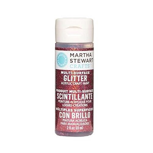 Martha Stewart Crafts Multi-Surface Glitter Acrylic Craft Paint in Assorted Colors (2-Ounce), 32171 Tourmaline (Tourmaline Glitter)