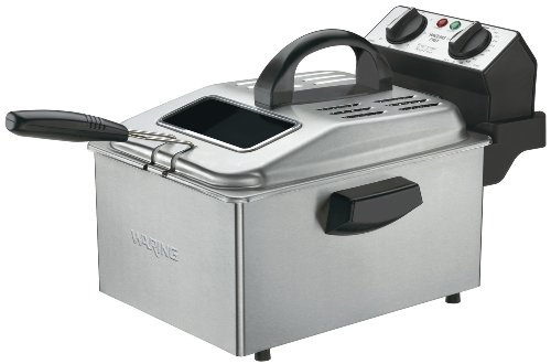 Waring DF250B 1800-Watt Deep Fryer, Brushed Stainless For Sale
