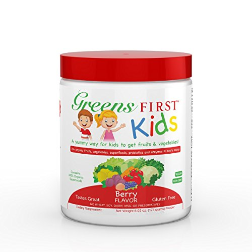 Cheap Greens First Kids – Berry – Improved Nutrition, Essential Source Of Vitamins & Minerals, Digestive Enzymes, USDA Organic – 6.03 Ounce 30 Servings