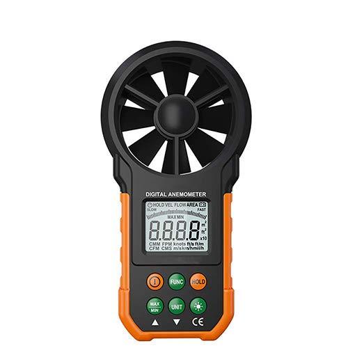 Anemómetro digital de mano viento medidor de velocidad para medir la velocidad del viento con BacklightOutdoors deportes...