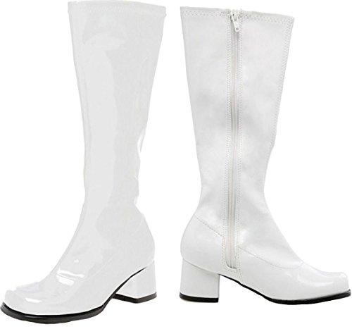 Ellie Shoes Go Go Boot Child Size 12 White (White Gogo Boots Cheap)