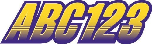 STIFFIE Techtron Yellow/Purple 3 Alpha-Numeric Registration Identification Numbers Stickers Decals for Boats & Personal Watercraft