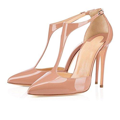 Chiusura Cinturino Alla Col Scarpe T sandali Donna Donna Beige scarpe Caviglia Con Donna Edefs A Tacco qwRPc1ncB