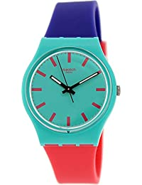 Shunbukin Teal Dial Plastic Silicone Quartz Ladies Watch GG215 · Swatch