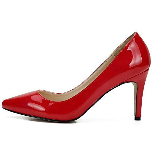 Pumps Pointed Stiletto Dress High Toe Women's Shoes Heel jessi Pu Red Maiernisi Classic zRW66F
