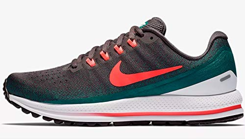 f33eca595b92a Galleon - NIKE Women s Air Zoom Vomero 13 Running Shoe Thunder Grey HOT  Punch-GEODE Teal-White 10.5