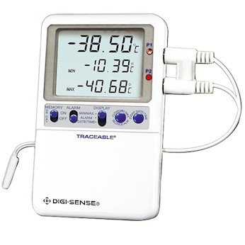 Digi-Sense Traceable High-Accuracy RTD Digital Thermometer with Calibration; Wire Probe