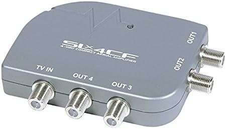 SLx 27858F - Amplificador de Antena de TV (4 Salidas, Conector F)