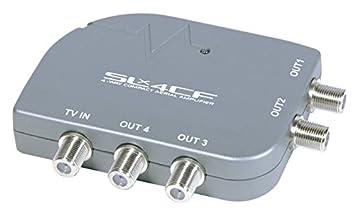 SLx 27858F - Amplificador de antena de TV (4 salidas, conector F): Amazon.es: Electrónica