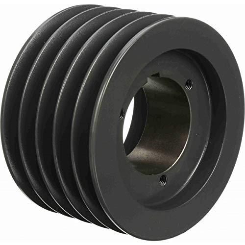 Browning 5B5V50 Split Taper Sheave, Cast Iron, 5 Groove, A, B or 5V Belt, Uses Q1 Bushing -