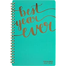"""At-A-GLANCE 2017/2018 Weekly/Monthly Academic Planner, 12 Months, July-June, 4-7/8 X 8"""", Aspire Collection, Best Year Ever (1022-200A-42)"""
