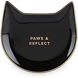 Pinky Up 5497 Paws & Reflect Black Cat Tea Tray
