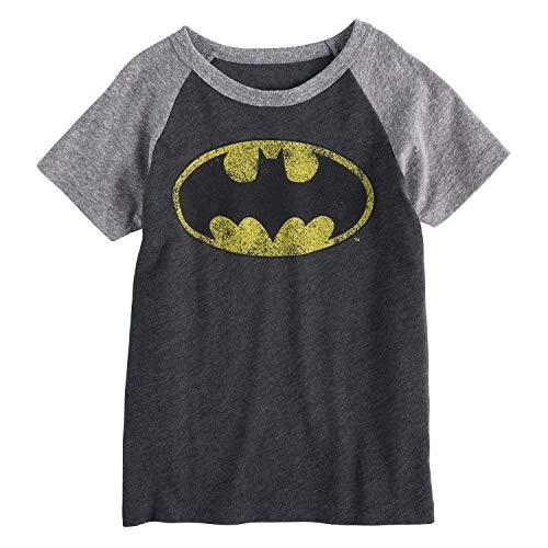 Jumping Beans Boys 4-10 DC Comics Batman Raglan Graphic Tee 7 Charcoal Heather ()