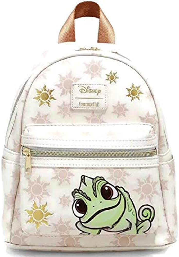 Amazon Com Loungefly Disney Tangled Pascal Sun Mini Backpack Clothing