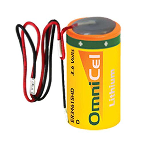 OmniCel ER34615HD/W LithiumThionyl Chloride Battery with Wire Leads Replaces Eagle Pitcher PT-2300, Saft LS-33600 LS33600C LSH20, Tadiran TL-2300 TL-4930 TL-5930, Tekcell - Eagle Pitcher
