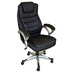 Tectake Luxury Office Chair With Double Cushion Kitchen Home