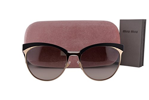 Miu Miu MU54QS Sunglasses Pale Gold w/Gray Gradient Lens 1BO0A7 MU 54QS For - Liv Sunglasses Tyler