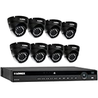 Lorex 8 channel NR9082 4K home security system with 8 weatherproof 4MP dome LNE4322B IP cameras