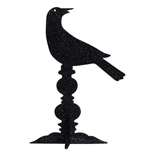 IHI Black Glitter Raven Centerpiece by India Handicrafts