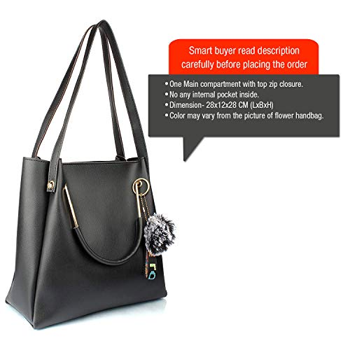Mammon Women's stylish black color Handbags (LR-bib-blk)