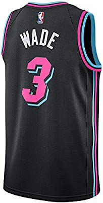 Nike Youth Large 14 16 Dwyane Wade Miami Heat City Edition Vice Nights Jersey Black Amazon Co Uk Sports Outdoors