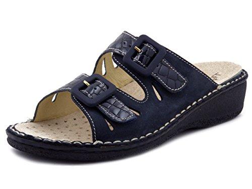Sanitario Colore In Soft 2432 Blu Pelle Cinzia Zeppa 4cm Sandalo EqXBxCtEw