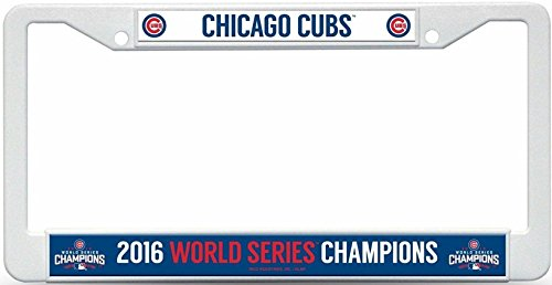Chicago Cubs 2016 World Series Champions Plastic License Plate Cover 13210