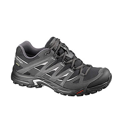 Salomon Men's Eskape GTX Hiking Shoe,Black/Asphalt/Aluminum,
