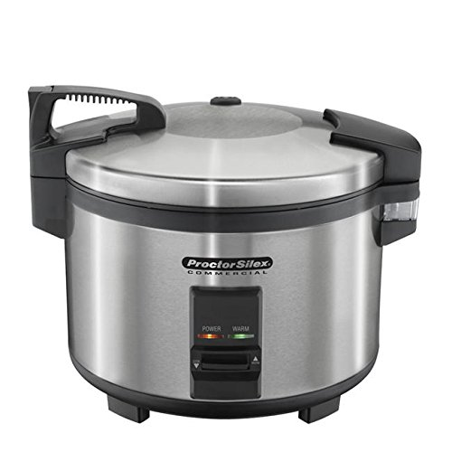 Proctor Silex Commercial 37540 Rice Cooker/Warmer, 40 Cups Cooked Rice, Non-Stick Pot, Hinged Lid, Stainless Steel Housing by Hamilton Beach