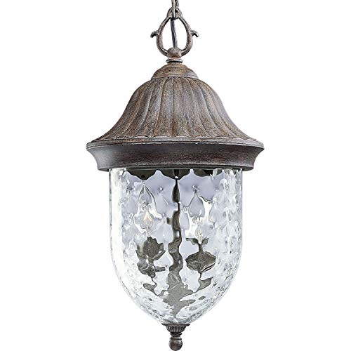 Small Wall Coventry (Progress Lighting P5529-87 1-Light Chain Hung Lantern with Optic Hammered Clear Glass to Complement The New Fieldstone Finish, Fieldstone)