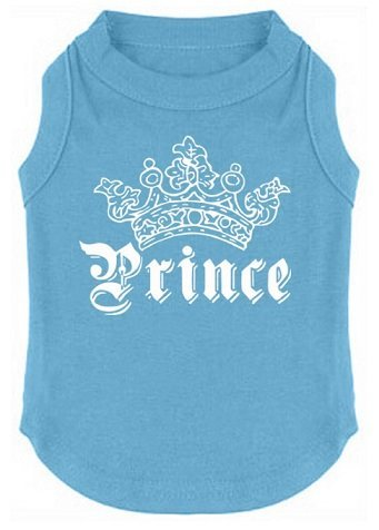 EXPAWLORER Prince Fashion Pet T-Shirt Small Dog Cat Vest Clothes Puppy Costumes for Chihuahua Yorkshire Terrier Blue XS
