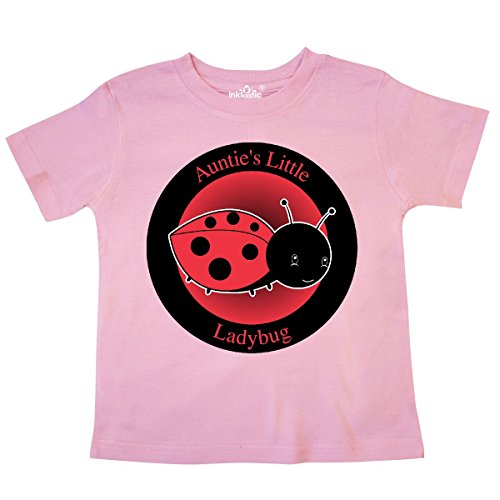 - inktastic - Auntie's Little Ladybug Toddler T-Shirt 4T Pink 27da7