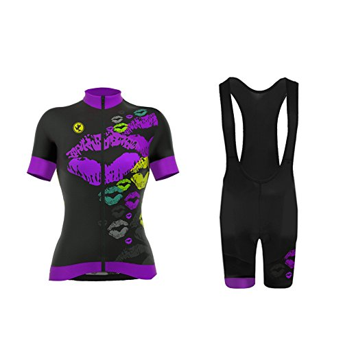 - Uglyfrog Women's Cycling Jersey Bib Shorts Sets Short Sleeve 3D Gel Padded