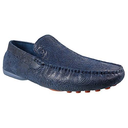 Mens Tallia Orange Victorio Blue Leather Dress Loafer Shoe. 11 B(M)