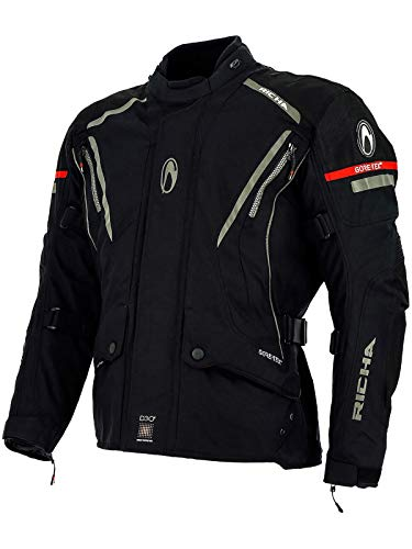 Richa Black Cyclone Gtx X Waterproof Motorcycle Jacket (Xxxxl, -