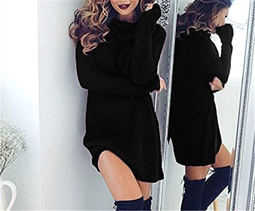 en Hiver El Maille Robe Pull Haut Automne Col Femme xqUHY4U