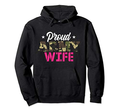 Proud Army Wife Camo Military Spouse Hoodie