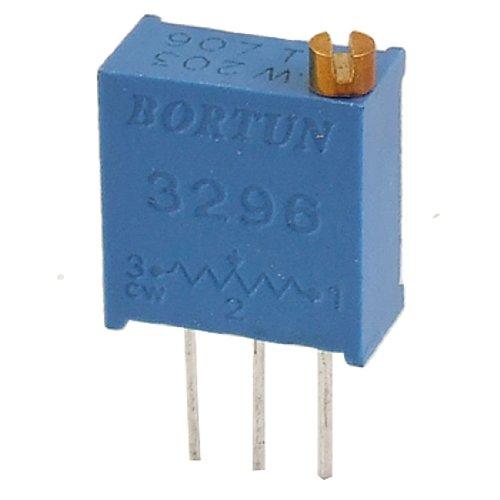 (Uxcell a11090100ux0561 50 Piece 203 20K Ohm 3296W Trim Pot Trimmer Potentiometer, 25 Turn)