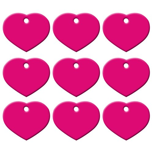 (PEHTEN Wholesale 20Pcs Customized Personalized 2 Sides Heart-Shaped Aluminum Dog Cat Tag Pet Collar Accessories ID Tag Name Telephone Rose 25X20X1MM)