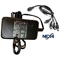 Nexhi 12VDC 1.5A 1500mA Premium Security Camera Power Supply Adapter & Splitter For QSee Zmodo LOREX