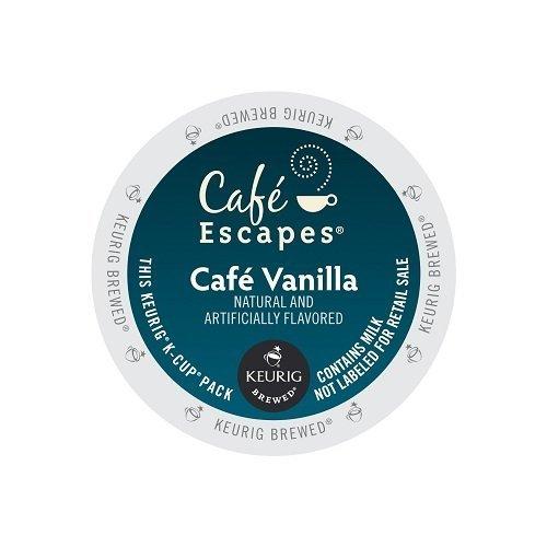 Cafe Escapes Keurig K Cups, Vanilla, 48 Count (Keurig Vanilla Cafe)