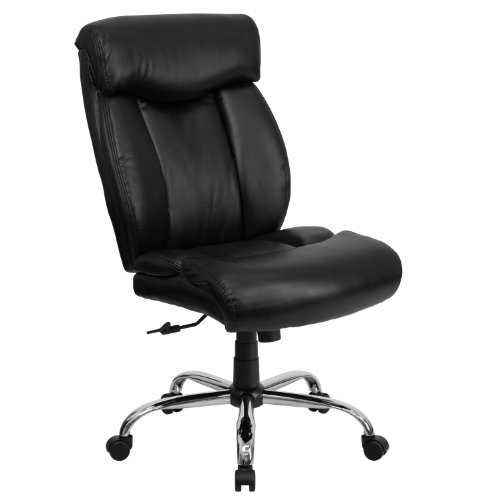 Flash Furniture HERCULES Series Big & Tall 400 lb. Rated Black Leather Executive Swivel Chair - GO-1235-BK-LEA-GG ()