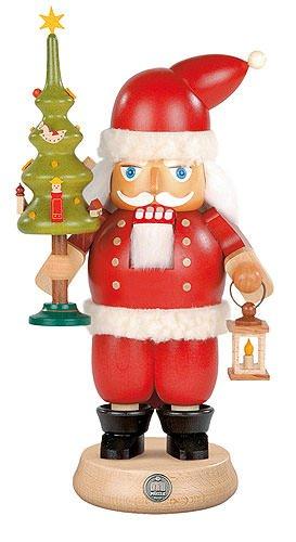 Mueller Dregano Santa Claus with Tree Christmas Nutcracker, height 23 cm / 9 inch, Germany (Germany Christmas Seiffen)