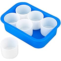 6 Pcs/Set Paint Cups,Grid Painting Box Case Painting Palette for Gouache Watercolor Oil Painting, 4CM Height, 5CM Width, Plastic