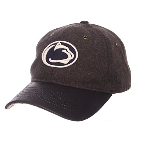 Brass Lions Nittany State Penn - ZHATS NCAA Penn State Nittany Lions Adult Men Alum Heritage Collection Hat, Adjustable, Heather Gray