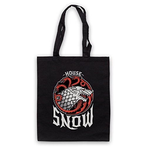 Game Of Thrones House Snow Bolso Negro